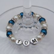 Personalised Name Wine Glass Charms - Full Sparkle Style